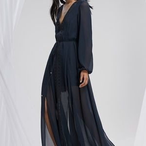 Fashion BNKR Finders Keepers Maxi V Neck Dress